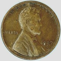 1927-D 1C LINCOLN WHEAT CENT EXTRA FINE  20OUT0110 50 CENTS SHIPPING