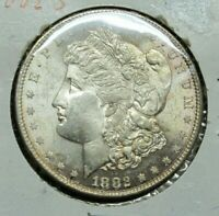 1882-S MORGAN SILVER DOLLAR, SEMI PROOF LIKE PL,  LUSTROUS,BLAST WHITE,