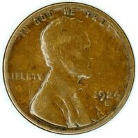 1924-S 1C LINCOLN WHEAT CENT 17RR2611-1 50 CENTS SHIPPING