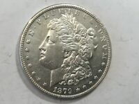 1879-P MORGAN SILVER DOLLAR DATE UNC FROM ALBUM COLLECTION AU MS CONDITION M13