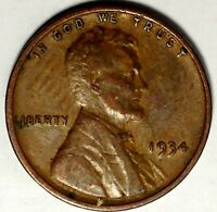 1934-P 1C LINCOLN WHEAT CENT 17LT0411-3 50 CENTS SHIPPING