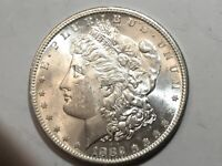 1882-S PL MORGAN SILVER DOLLAR DATE UNC FROM ALBUM COLLECTION MS CONDITION M13