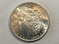 1882-S PL MORGAN SILVER DOLLAR DATE UNC FROM ALBUM COLLECTION MS CONDITION M14