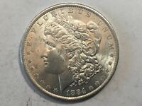 1884-0 PL MORGAN SILVER DOLLAR DATE UNC FROM ALBUM COLLECTION MS CONDITION M14