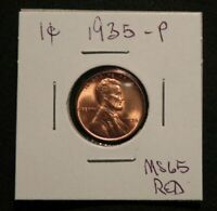 STUNNING 1935 P LINCOLN HEAD PENNY CENT COIN MS BU UNC  RED BUY NOW OFFER