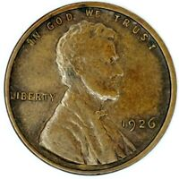 1926-P 1C LINCOLN WHEAT CENT EXTRA FINE  17OOH0806-3 50 CENTS SHIPPING