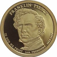 2010 S PRESIDENTIAL DOLLAR FRANKLIN PIERCE GDC PROOF 50 CENTS SHIPPING