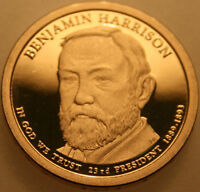 2012 S PRESIDENTIAL DOLLAR BENJAMIN HARRISON PROOF 50 CENTS SHIPPING