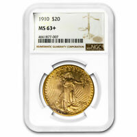 1910 $20 SAINT-GAUDENS GOLD DOUBLE EAGLE MINT STATE 63 NGC - SKU213183