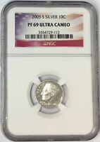 2005-S 10C ROOSEVELT SILVER DIME NGC PF69 ULTRA CAMEO