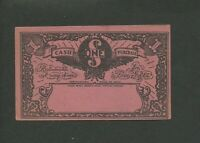 1930S CANADA DEPRESSION ERA SCRIP MONEY TOKEN PAPER CURRENCY. UNSTAMPED.