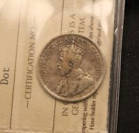 1936 DOT CANADA 25 CENTS. F 12 ICCS CERTIFIED.  TYPE.