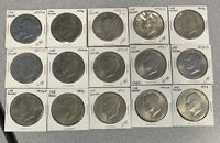LOT OF FIFTEEN  15  EISENHOWER IKE DOLLARS MIXED YEARS COIN