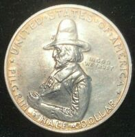 1920 50C PILGRIM SILVER COMMEMORATIVE HALF DOLLAR   BEAUTIFU