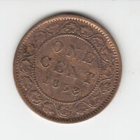 1858 CANADA LARGE CENT COIN
