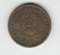 1864 U.S 2 CENTS COIN