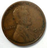 1924-S 1C LINCOLN WHEAT CENT 17LSR0101-2 50 CENTS SHIPPING