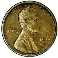 1919-S 1C LINCOLN WHEAT CENT 17RR1408 50 CENTS SHIPPING