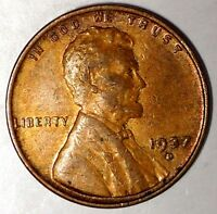 1937-D 1C LINCOLN WHEAT CENT UNC R/B 17RR0412-3 50 CENTS SHIPPING