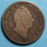 GREAT BRITAIN 1836 GROAT 4 PENCE SILVER KING WILLIAM IV