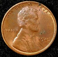 1945-S 1C LINCOLN WHEAT CENT UNC RED 17RR1709-2 50 CENTS SHIPPING