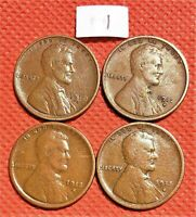 1910-S, 1912-S, 1913-S, 1915-S WHEAT CENTS, PENNY, KEY DATE COINS 1