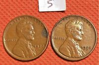 1922-D, AND 1926-S KEY DATE WHEAT CENTS COINS PENNY 5