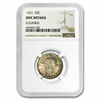 1921 STANDING LIBERTY QUARTER UNC DETAILS NGC CLEANED - SKU212611
