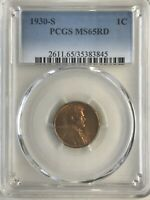 1930-S PCGS MINT STATE 65RD LINCOLN CENT
