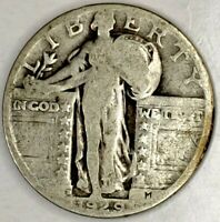 1929-D 25C STANDING LIBERTY QUARTER 90 SILVER 19UAS1124 50 CENTS SHIPPING