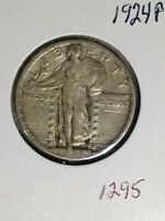 1924-P STANDING LIBERTY QUARTER-LUSTER EXTRA FINE  PHILY MINT-STRONG FEATURES- FACE
