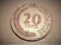 1963 20 CENTS SINGAPORE GREAT CONDITION