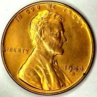 1944-S 1C LINCOLN WHEAT CENT BU RED 20LHT0129 50 CENTS SHIPPING