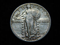 1927 S 25C STANDING LIBERTY QUARTER XF GREAT COIN  TOUGH DAT