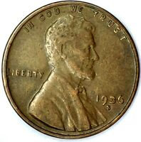 1936-S 1C LINCOLN WHEAT CENT 19RR0816 50 CENTS SHIPPING