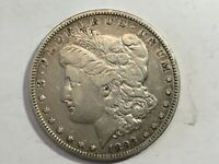 1893-P EXTRA FINE   MORGAN SILVER DOLLAR DATE FROM ALBUM COLLECTION M12
