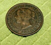A511 CANADA 1858 LARGE CENT VG