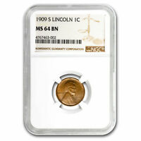 1909-S LINCOLN CENT MINT STATE 64 NGC BROWN - SKU212334