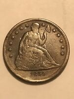 1859 SEATED LIBERTY DOLLAR COLLECTORS COIN FULL LIBERTY