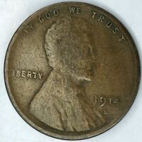 1914-S 1C LINCOLN WHEAT CENT KEY DATE 20LULO0420 50 CENTS SHIPPING