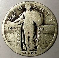 1926-P 25C STANDING LIBERTY QUARTER 90 SILVER 18UWH1501 50 CENTS SHIPPING