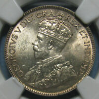 NGC MS 63 CANADIAN 1918 25 CENTS   BEAUTIFUL & LUSTROUS COIN
