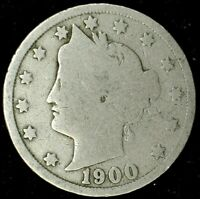 1900-P 5C LIBERTY HEAD NICKEL 19LLW0825-2 50 CENTS SHIPPING