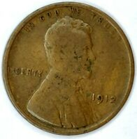 1912-P 1C LINCOLN WHEAT CENT 17RR1809-2 50 CENTS SHIPPING