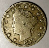 1910-P 5C LIBERTY HEAD NICKEL 18OCO0721 50 CENTS SHIPPING