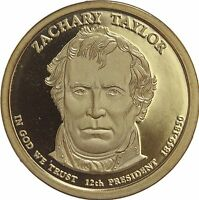 2009 S PRESIDENTIAL DOLLAR ZACHARY TAYLOR GDC PROOF 50 CENTS SHIPPING