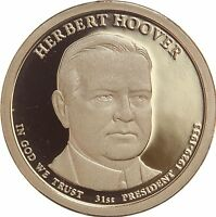 2014 S PRESIDENTIAL DOLLAR HERBERT HOOVER GDC PROOF 50 CENTS SHIPPING