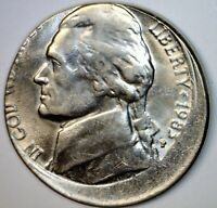 1983 ERROR JEFFERSON NICKEL OFF CENTER BU   COIN   NICE O/C
