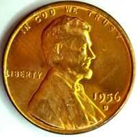 1956-D 1C LINCOLN WHEAT CENT BU 19UU1122 50 CENTS SHIPPING