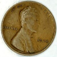 1924-P 1C LINCOLN WHEAT CENT 17RR0811 50 CENTS SHIPPING